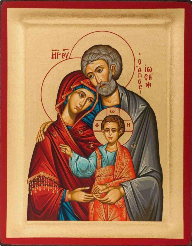 икона Иосиф, Богоматерь и Иисус