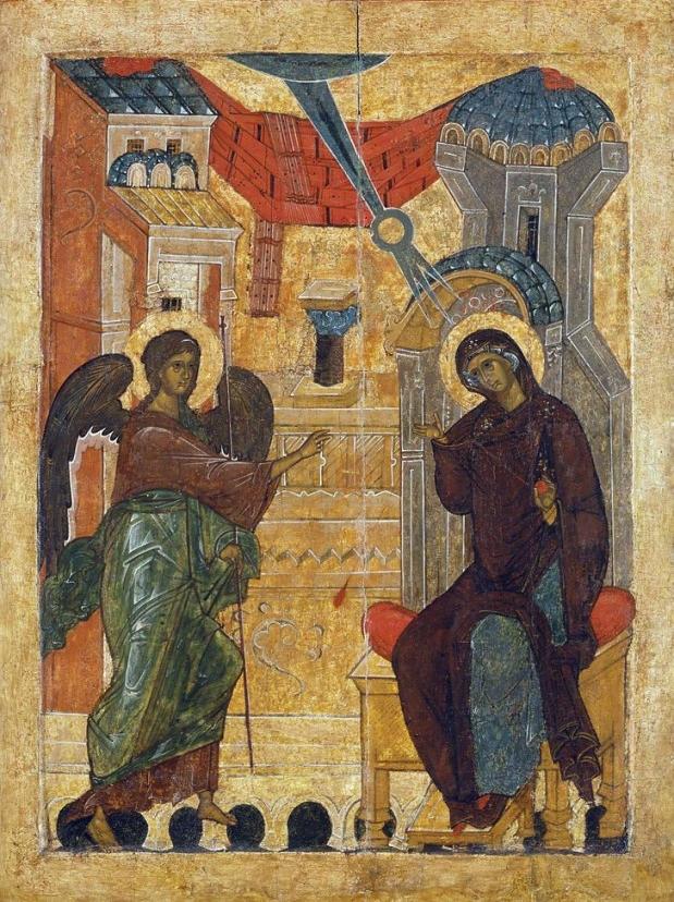 икона на благовещение пресвятой богородицы